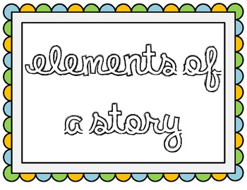 Elements of a Story Poster Pack
