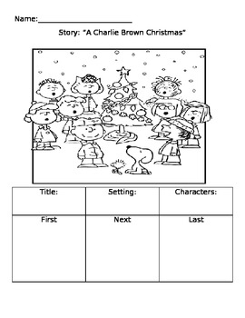"""Elements of a story """"Charlie Brown Christmas"""""""