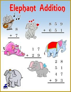 Add within 1000:  Elephant Addition