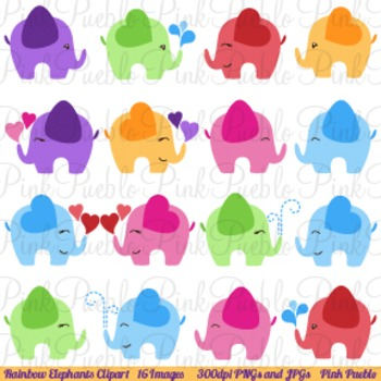 Elephant Clip Art- Commercial and Personal Use