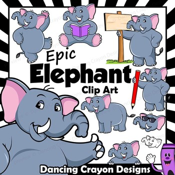Elephant Clip Art with Signs