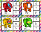 Elephant Ending Sounds Clip Cards File Folder Game