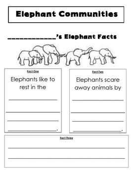 Elephant Facts Close Read