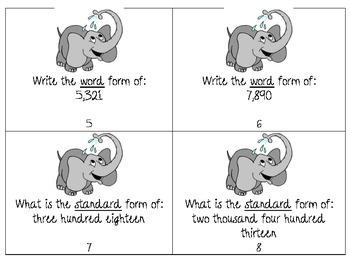 Elephant Fun Place Value