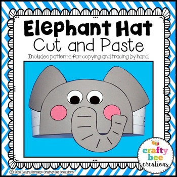 Elephant Hat Cut and Paste