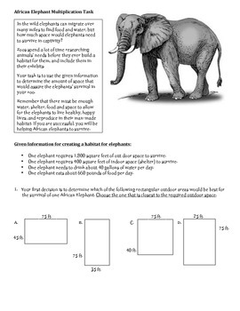 Elephant Multiplication Task MJ