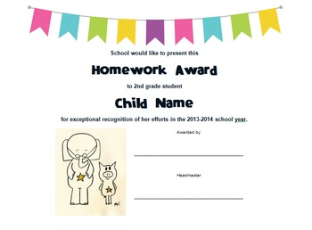 Elephant & Piggie Themed Character & Academic Awards with