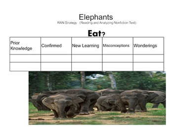 Elephant RAN (Reading and Analyzing Nonfiction)Smartboard