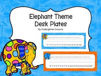 Elephant Theme Desk Plates