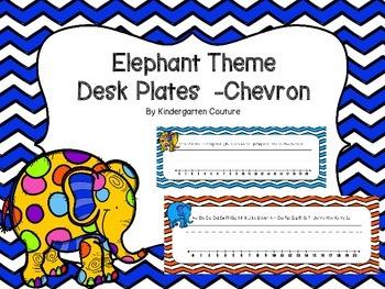 Elephant Desk Plates Chevron