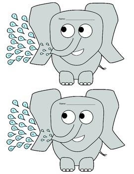 Elephant Themed Behavior Punch Cards