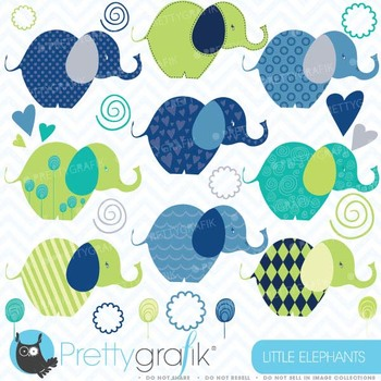 Elephants clipart commercial use, vector graphics, digital