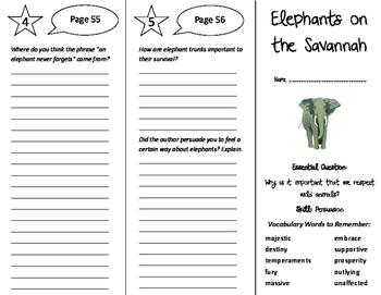 Elephants on the Savannah Trifold - Journeys 6th Grade Uni