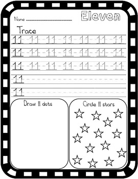 Eleven Counting Worksheet