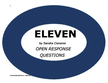 Eleven by Sandra Cisneros ( Comprehension Questions and An