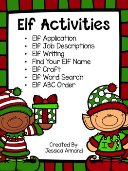 Elf Application and Activities (writing, elf name, craft,