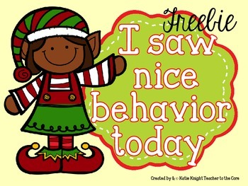 I Like What I See {Elf  Edition} Behavior Management - Freebie