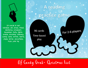Christmas Words Elf Candy Grab Game