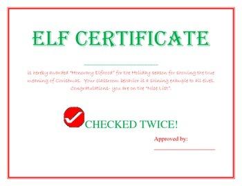 Elf Certificate