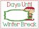 Elf Christmas Winter Break Countdown Sign FREEBIE