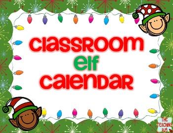 Elf Classroom Holiday Christmas Calendar-Free