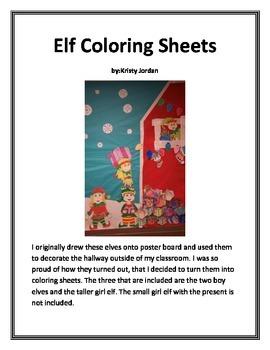 Elf Coloring Sheets