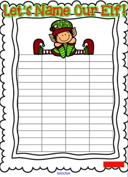 Elf Fun Freebie! {Let's Name Our Elf} {Elf Naming Graph}