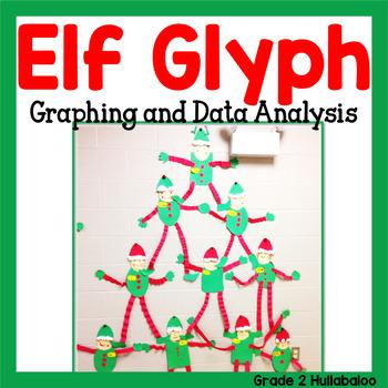 Elf Antics! Glyph, Graphs, Data Analysis, Math Task Cards