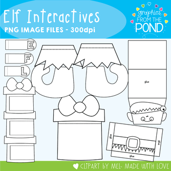 Elf Interactives -  Template Set Great for Interactive Notebooks!