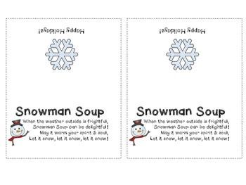 Elf Kisses and Snowman Soup Labels