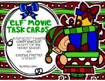 """Elf"" Movie Task Cards + Bonus Internet Craftivity"