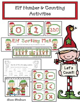 Elf Number & Counting Activities