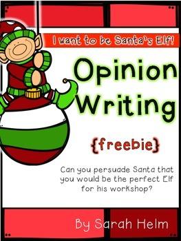 Elf Opinion Writing {freebie}