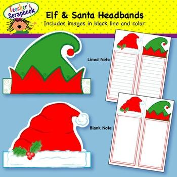 Elf & Santa Hats Headbands