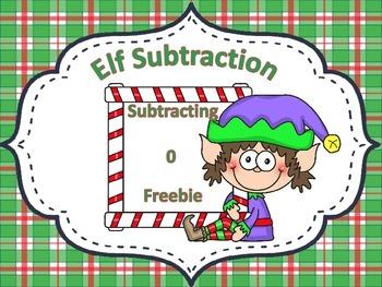 Elf Subtraction Subtracting 0 FREEBIE