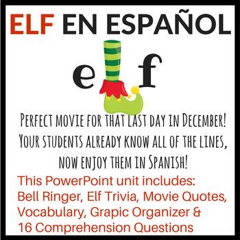 Elf movie in Spanish - POWERPOINT unit