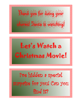 Elf on Shelf Printable  Notes