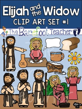 Elijah and the Widow Bible Clip Art Set 1