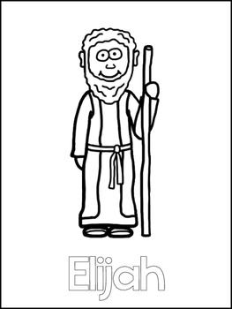 Elijah and the Widow Printable Color Sheets. Preschool Bib