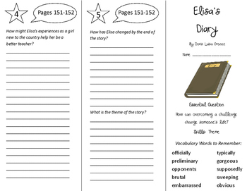 Elisa's Diary Trifold - Journeys 5th Grade Unit 1 Week 5 (