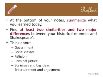 Before you read Shakespeare: Elizabethan England historic
