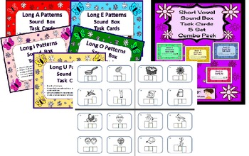 Elkonin / Sound Box Task Cards and Assessments Combo Pack
