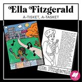 """Ella Fitzgerald """"A-Tisket, A-Tasket"""" Coloring Page & Liste"""