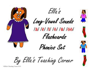 Ella's Long-Vowel Sounds Flashcards Phonics Set