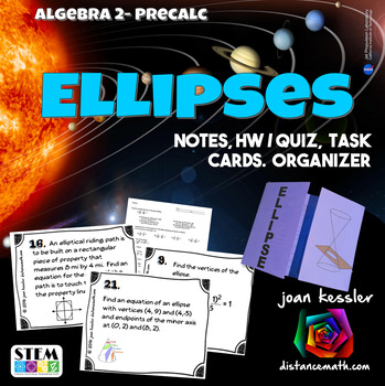 Ellipses Task Cards and Foldable Organizer