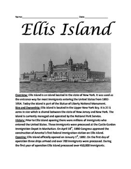 Ellis Island - history lesson immigration review article q