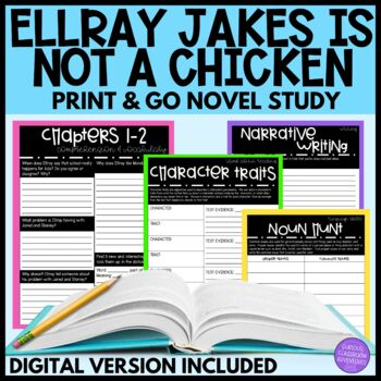 Ellray Jakes is NOT a Chicken Novel Study