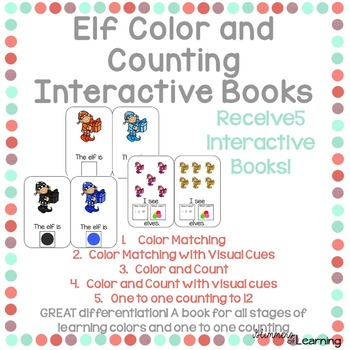 Elves Color and Counting Interactive Books