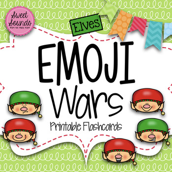 Elves Emoji Wars PRINTABLE Flashcards {Takadimi Tiritiri}