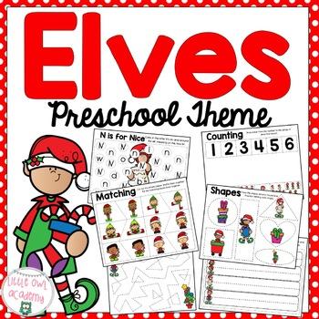 Elves Preschool Packet
